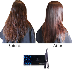 Royale Black Licorice Rubber Wet to Dry Hair Straightener - RoyaleUSA