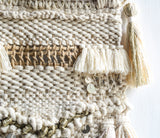 Neutral woven  and macramé wall hanging