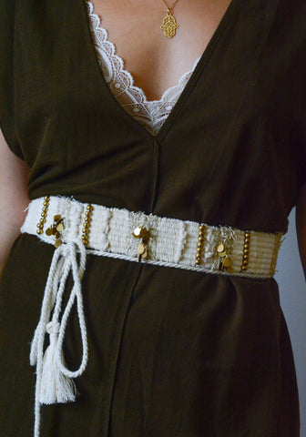 Beaded Woven belt