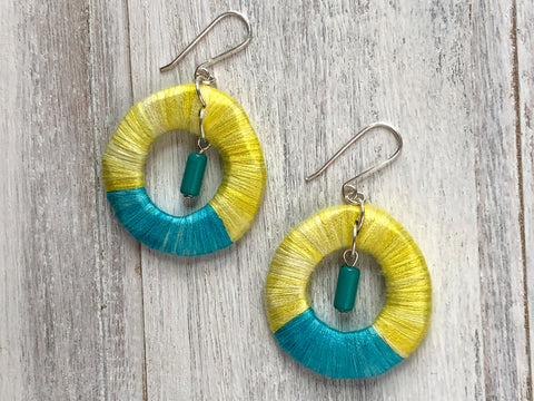 Silk Hoop earrings