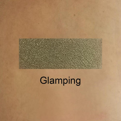 Glamping - Mossy Green Eye Shadow With a Golden Shimmer Shade