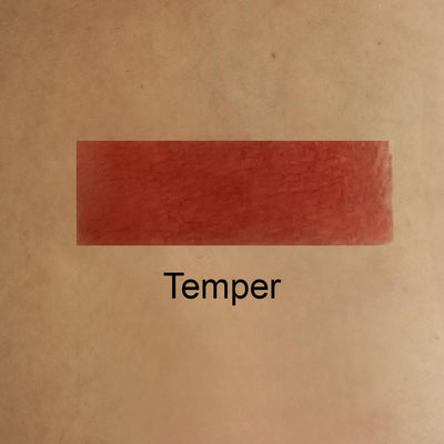 Temper - Richly Pigmented Burnt Orange-Red Eye Shadow