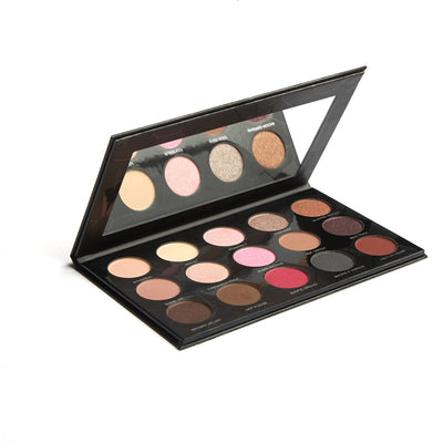 Eye Candy Palette - 15 Color, Exotic Pinks and Cocoa Eye Shadow Palette