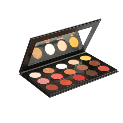 Golden Diva Palette - 15 Color Orange and Red Eye Shadow Palette