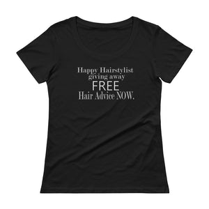 Happy Hairstylist Marketing Shirt Ladies' Scoopneck T-Shirt