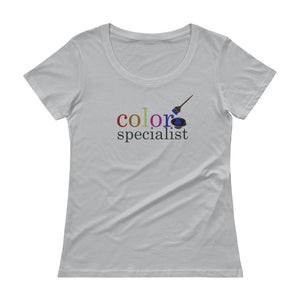 Color Specialist Hairstylist Salon Tee, Ladies' Scoopneck T-Shirt