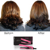 Mini Flat Iron 0.5″ Ceramic Tourmaline - Pink - RoyaleUSA