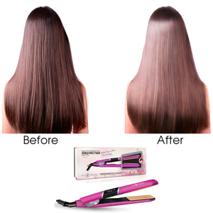 1″ Nano Fiber Flat Iron With Zero Friction Technology - Pink - RoyaleUSA