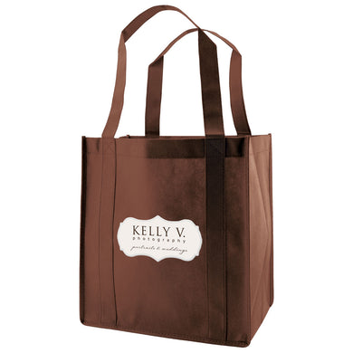 Custom Printed Reusable Recycled Grocery Bag