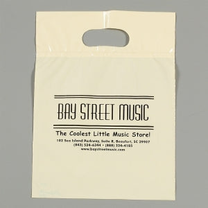 Custom Printed Low Density Fold Over Die Cut Handle Bag 12x15
