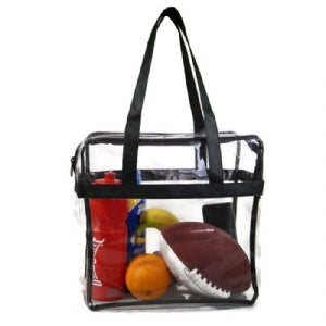Stadium Bags - 12X12X6 Clear Vinyl - Zip Top - 50/Case