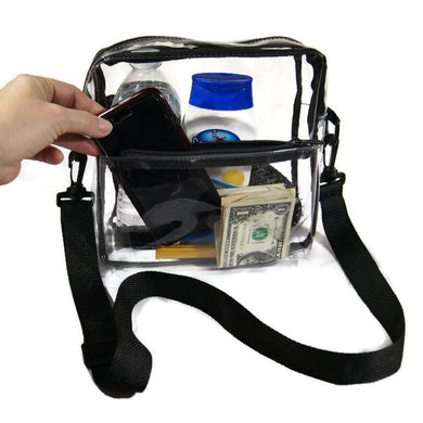 Clear Cross Body Messenger Shoulder Bag - Single Bag