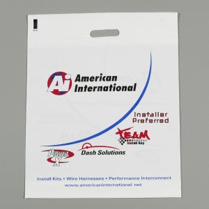 Custom Printed Low Density Die Cut Handle Bag 14x18
