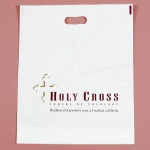 Custom Printed Low Density Die Cut Handle Bag 12x15