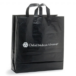 Custom Printed Hi Density Black Frosty Shopping Bag