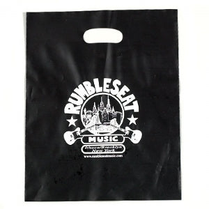 Custom Printed Hi Density Black Frosty Die Cut Handle Bag