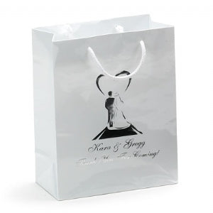 Custom Printed Euro Tote Laminated Handle Paper Shopping Bag 8x4x10