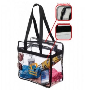 Custom Printed NFL & PGA Approved Clear Stadium Tote Bag