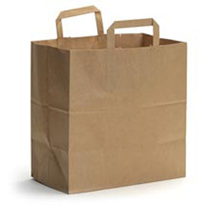 Flat Handle Shopping Bags