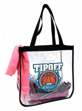 Custom Printed Promotional Clear Vinyl Tote Bags