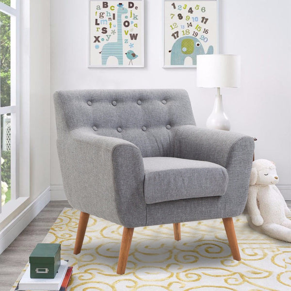 Living Room Arm Chair with Tufted Back Fabric – Home Decor and More