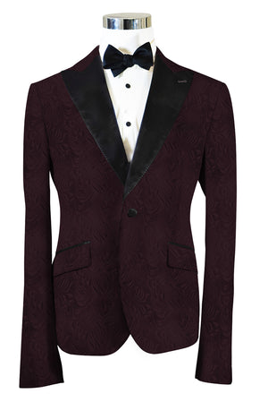 The Regal Plum Paisley Dinner Jacket