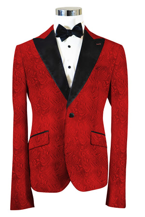 The Regal Red Paisley Dinner Jacket