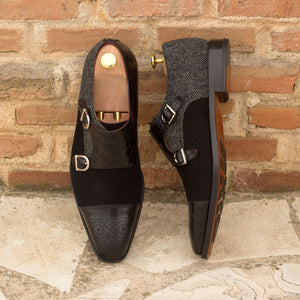 The Black Majesty Double Monk Shoe