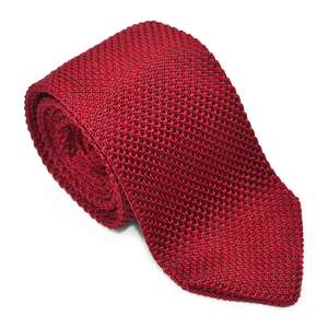 Elegant Burgundy Men Knit Tie