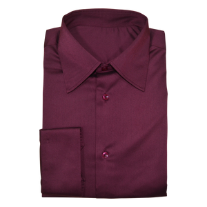 Maroon Stretch Cotton Custom Shirt