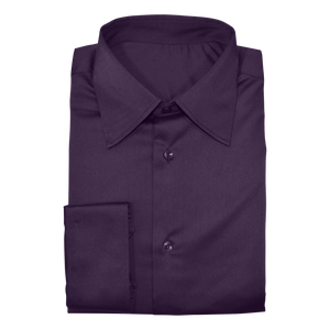 Plum Stretch Cotton Custom Shirt