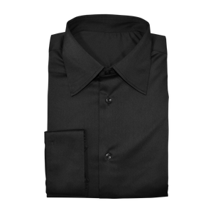 Black Stretch Cotton Custom Shirt
