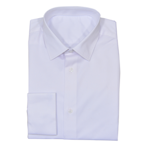 White Stretch Cotton Custom Shirt