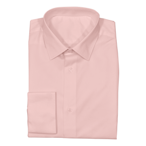 Soft Pink Stretch Cotton Custom Shirt