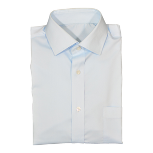Light Blue Stretch Cotton Custom Shirt