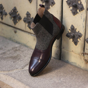 The Herringbone Custom Chelsea Boot
