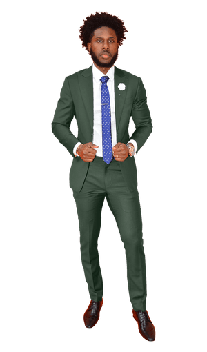 The Regal Hunter Green Suit