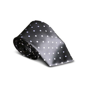 Black White Small Polkadot Tie