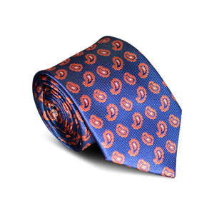 Space Blue Paisley Tie