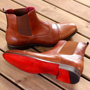The New Age Brown Leather Custom Chelsea Boots
