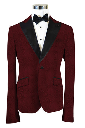 The Regal Burgundy Paisley Dinner Jacket