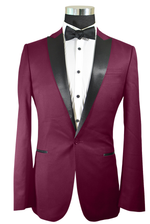 The Regal Burgundy Tuxedo
