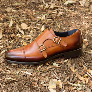 The Cognac Double Monk Custom Shoe