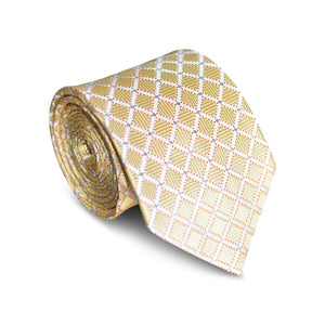 Diamond Tip Gold Tie