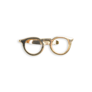 Rose Gold Glasses Tie Bar