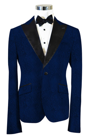 The Regal Navy Blue Paisley Dinner Jacket
