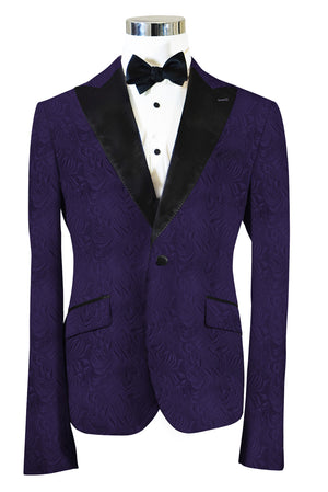 The Regal Purple Paisley Dinner Jacket