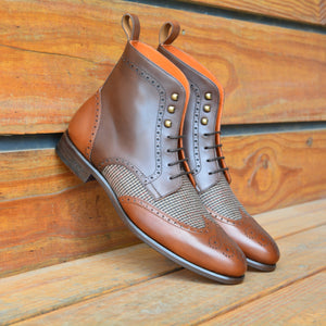 The Tweed Brogue Custom Boot