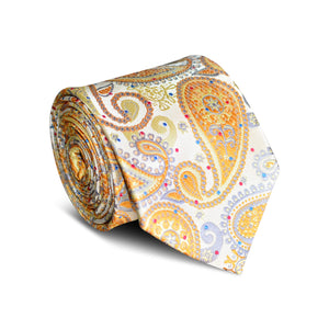 Moonlight Gold Paisley Tie