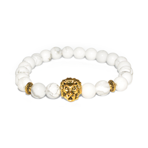 White Marble Lionhearted Bracelet